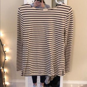 Striped J crew factory long sleeve top